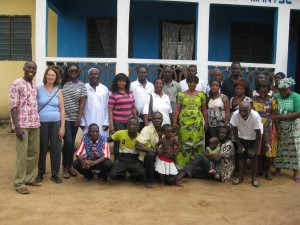Sala Sweet (second from left) takes road trips with the Accra North Rotary Club, in Ghana.